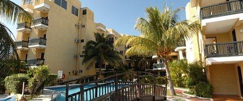 Terraza solárium Hotel Beach House Imperial Laguna Cancún